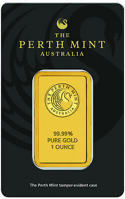 Perth Mint 1 oz. .9999 Fine Gold Bar In Assay