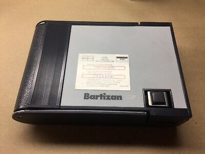 Bartizan Portable Credit Card Imprinter With Carrying Case