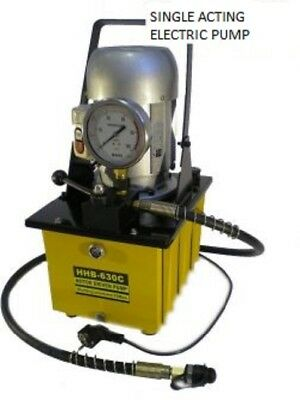 Electric Powered Hydraulic Pump Single Acting Manual Valve £246.00.+ Vat