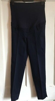 Ladies Navy Over The Bump Maternity Trousers from H&M Size 10