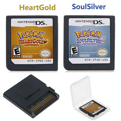 OZ Pokemon SoulSilver/HeartGold Game Card For 3DS NDSI NDS NDSL Lite2 AU Version