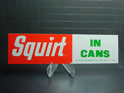 Squirt Soda Squirt In Cans 1970 Small Plastic Sign