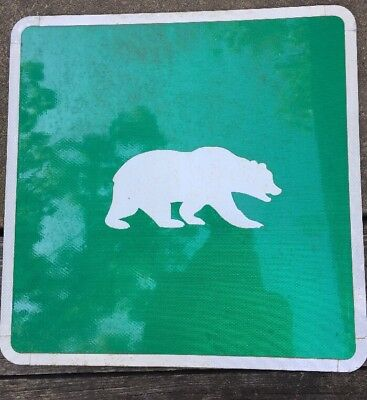 Authentic Retired BEAR Sign (24X24) Reflective Green Texas (BAYLOR)? Waco Texas