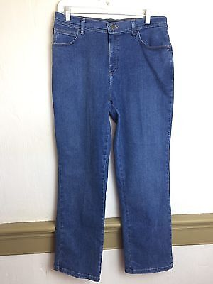 Vintage Lee 10P Womens High Waist Jeans Stretch Relaxed Fit Denim Pants