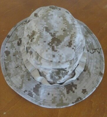 US Military Issue USMC Marine MARPAT Tan/desert Camo Boonie Field Cover Hat MD