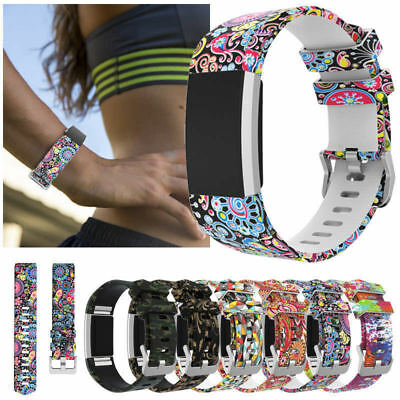 For Fitbit Charge 2 Band Adjustable Silicone Replacement Sport Strap Wristband