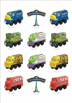 Novelty Chuggington Trains Stand Up Fairy Cake Cupcake Toppers Edible Birthday