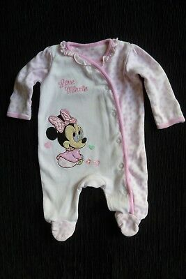 Baby clothes GIRL newborn 0-1m Disney Minnie Mouse pink, bow babygrow SEE SHOP!