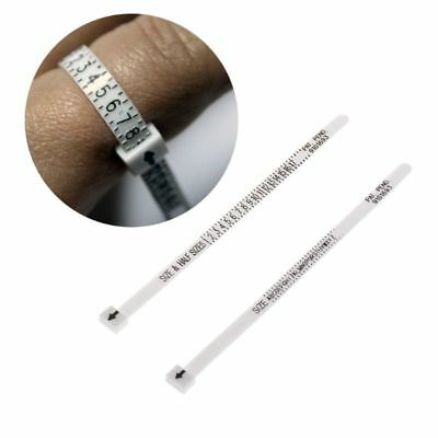 Ring Sizer Scale Gauge Finger Stick Mandrel Measurement Jewelry Tools Check IC
