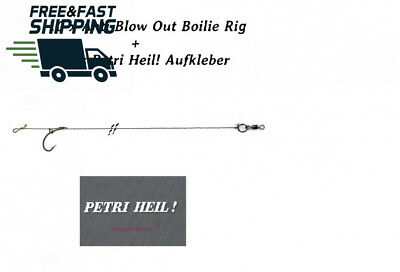 10 Pieces BEHR Anti Blow Out Boilie Rig Hook Size 6 with Petri Heil. [German...