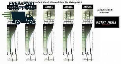 10 Jenzi Boilie Rigs Diamond Classic, Hook 2, with Stops