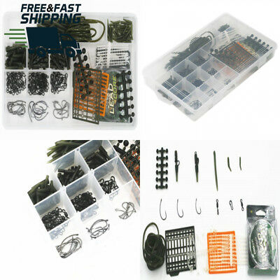 Carp Fishing Hair Rigs Tackle Kit Box,Including Boilie Stops,Sleeves,Carp...