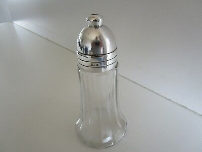 Christofle Silver Plate & Glass Sugar Caster, Shaker, Muffineer
