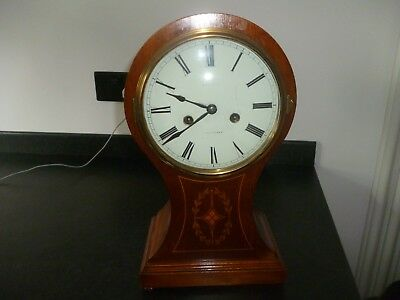 Large In-Laid Antique Balloon / Mantel Clock - Beauiful