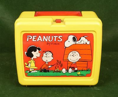 alte Snoopy Peanuts Lunchbox Brotdose Thermos made in USA