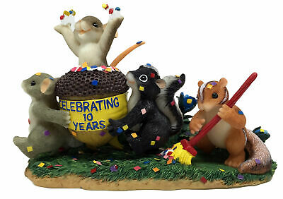 Signed Charming Tails Friendship Is The Reason To Celebrate Decor Fitz and Floyd