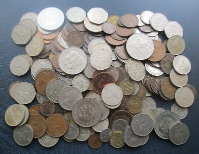 Job Lot of Mixed British Coins - Approx 1.8kg - Crowns, Shillings, 50p, 10p etc