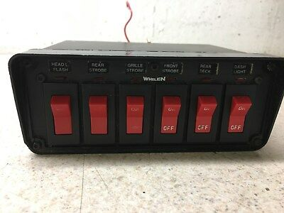 1) USED 6 Switch Switchbox Whelen Code 3 Federal Signal Tomar Sound ...