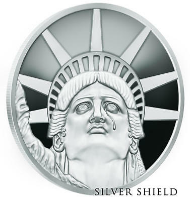 """2018 1Oz Colossus Proof - Monumental Truth - Silver Shield """"in-Hand"""""""