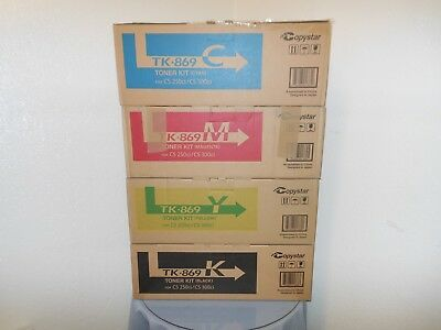Genuine Copystar CS 250ci, CS 300ci Color Toner Set KYMC New in Box!
