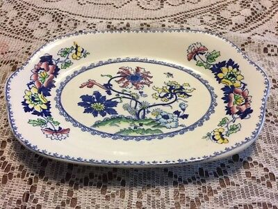 "Crown Staffordshire Balmoral Oval Shape 10.5"" Long Serving Platter Good Conditio"