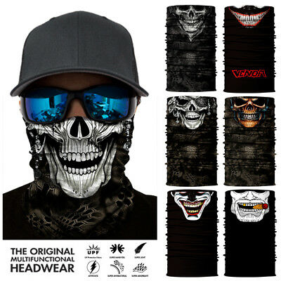 3D Skull Face Mask Sun Mask Headwear Neck Gaiter Balaclava Fishing Scarf UV