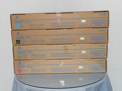 Genuine Konica BizHub C454 C554 TN512 Color Toner Set KYMC New in Box!