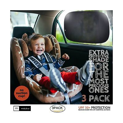Sun Shade for Car Window XL (3 Pack) - Extra Protective Dense Weave Car Windo...