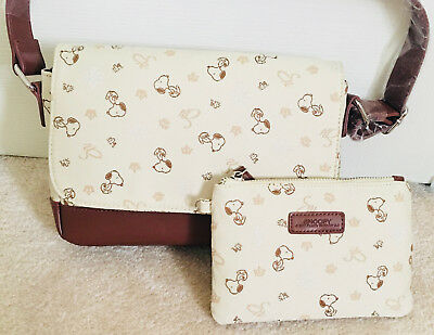 SNOOPY LOVELY PURSE with MATCHING COSMETIC BAG