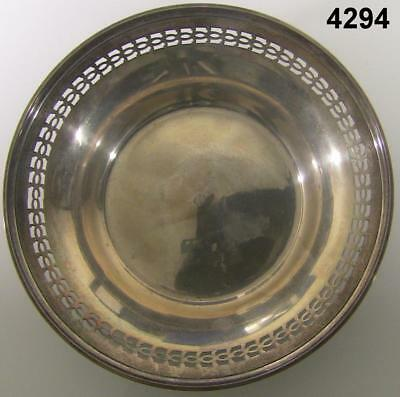 Manchester Mfg Co. Sterling Silver 021 Pierced Rim Candy Dish 4.3Oz #4294