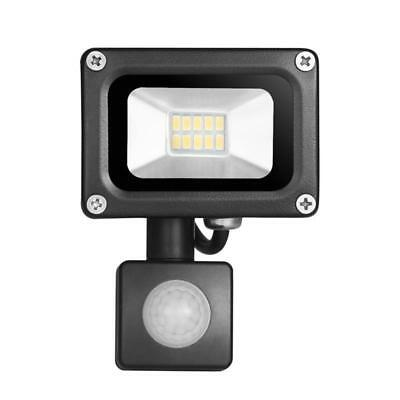 PIR Motion Sensor LED Floodlight 10W Warm/Cool  White SMD Garden Security Flood