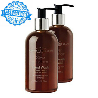 Scottish Fine Soaps Silver Buckthorn Liquid Hand Wash 2 Pack, Spicy with...