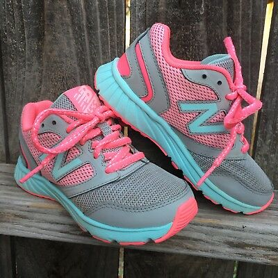 c53f2f60f2e New Balance Size 11.5 Toddler Girl Sneakers Turquoise and Pink Tennis Shoes