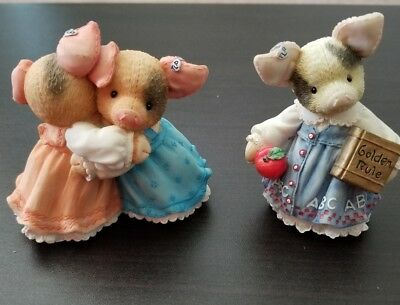 Pig THIS LITTLE PIG 1996 Enesco You're always there and Learning is Never a Boar