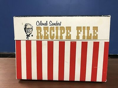 Vintage Colonel Sanders Recipe File Cardboard Box Kentucky Fried Chicken