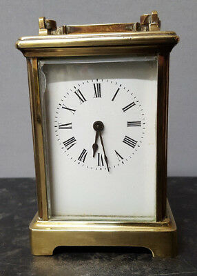 Classic Brass Carriage Clock with Jewelled Lever platform Movement