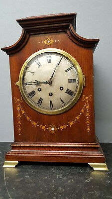 Vintage Large Gustav Becker Gold Medal Wooden Westminster Chiming Table Clock