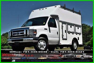Ford E-Series Van Utility Van 2008 Ford E-350 XL Enclosed Utility Van Service Truck Gas 5.4L Gas Rockport Used