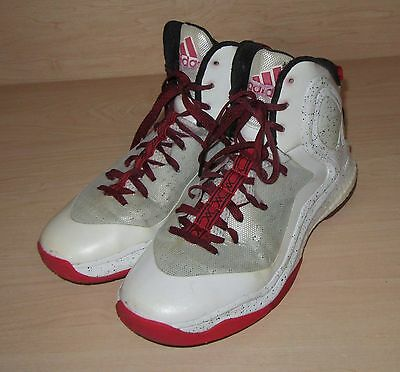 1419133dcead1f ADIDAS D Rose 5 Boost Basketball Shoes Size US 9 White Red Black S85193