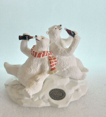 Coca-Cola Polar Bear and Friend Heritage Collection Collectible Free Shipping