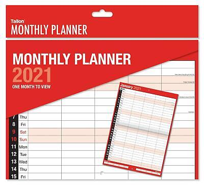 2019 Monthly Planner Large Month To View Wall Hanging Calendar 5 Column - 3813