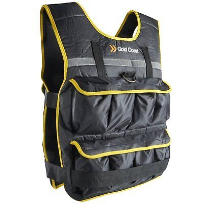 Vest with 16 Removable Iron and Sand Filled Bags Coast 10kg Adjustable Weight