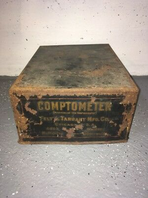 Antique Felt & Tarrant Comptometer With Cover **Must See!**