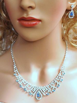 Wholesale lot of 6 New Bridal Crystal Necklace Earrings Wedding Jewelry N1Y8-6