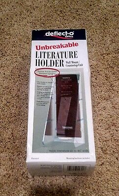 NEW Deflecto Unbreakable Literature Holder