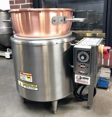 Savage Bros. 0100 Bakery Equipment Electric Candy Stove With New Copper Kettle