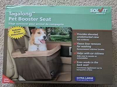 NIBSolvit PetSafe Tagalong Pet Dog Booster Car Seat Extra Large For Up To