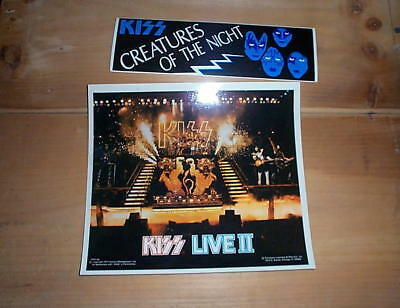 KISS 1977 & Creatures Vintage Stickers,  New Condition
