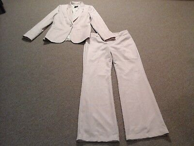 The Limited,blush pink textured stretch Pant Suit,womens blazer M, Pants 10
