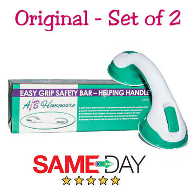 Set Of 2 Super Grip Portable Support Helping Handle Hand Rail For Shower & Bath